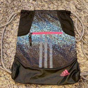 Adidas Drawstring Bag blue/pink/black